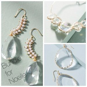 Jewelry - Reserved Bundle   3 Pairs Anthropologie Earrings
